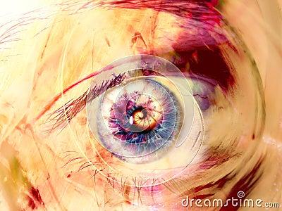 艺术数字式眼睛分数维漩涡