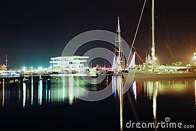 33rd America s Cup Sedate, Valencia Port Editorial Stock Image