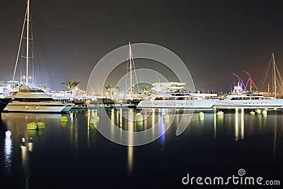 33rd America s Cup Sedate, Valencia Port Editorial Image