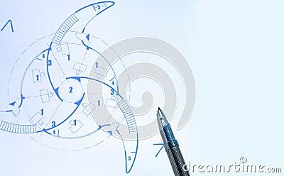 蓝色笔打印