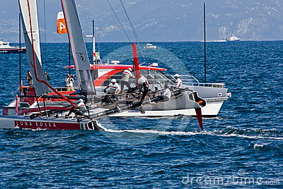 34th America s Cup World Series 2012 in Naples Editorial Photography