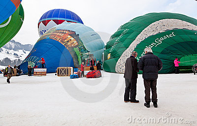 34th Festival International de Ballons Editorial Stock Image