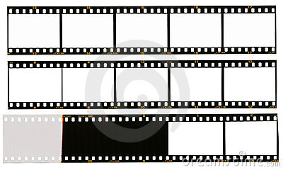 35 mm filmstrip, 12 picture frames,