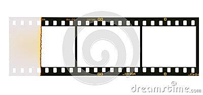35 mm filmstrip, 3 picture frames,