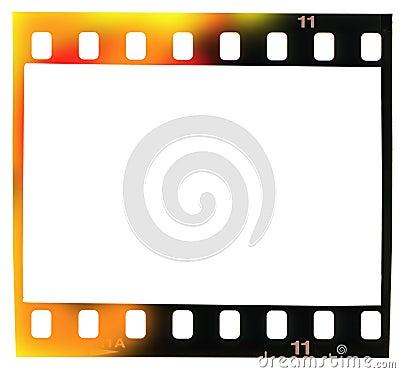 35 mm filmstrip,  picture frame, light incidence