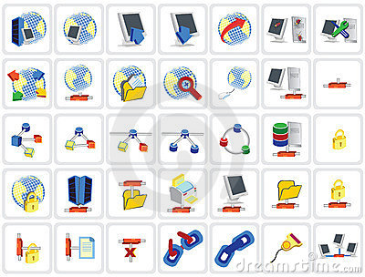35 network icons