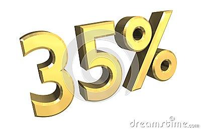 35 percent in gold (3D)