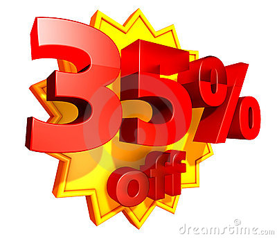35 percent price off discount
