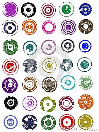 35 Splatted Circles
