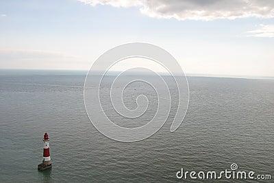 象海滨顶头灯塔