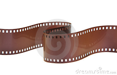 35mm classic negative film roll isolated