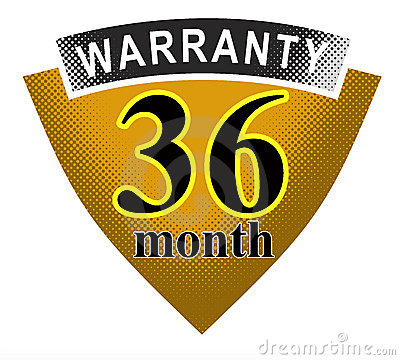 Free 36 Month Warranty Shield Stock Photo - 3643930