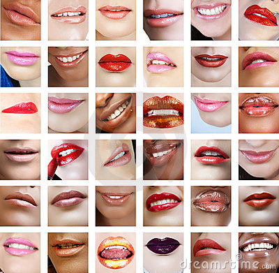 36 women lips close-up