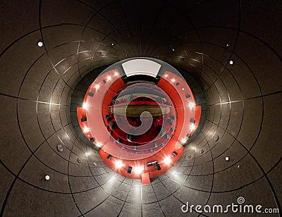 A 360 degrees panorama of cinema hall