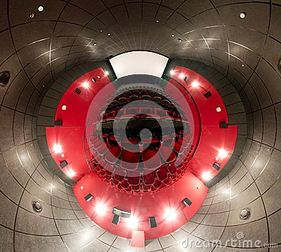 A 360 degrees panorama of cinema hall