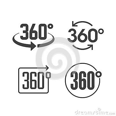 Free 360 Degrees View Sign Icon Stock Image - 63500121