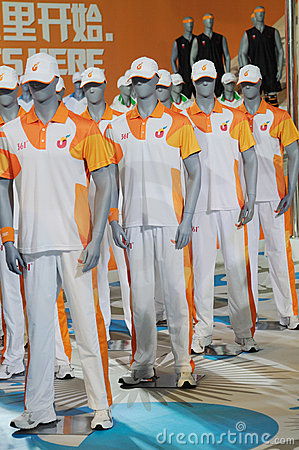 361 stand,Official uniform of the Universiade 2011 Editorial Image