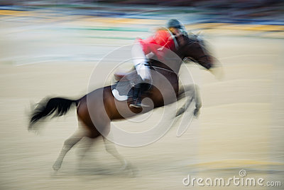 36th Postova Banka-Peugeot Grand Prix Show Jumping Editorial Stock Photo
