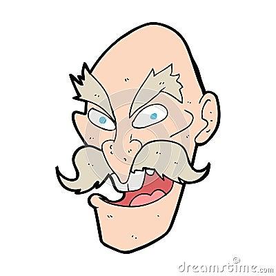 Old Man Cartoon Drawing Cartoon Evil Old Man Face