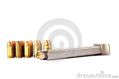 380 Caliber Handgun Ammo with Clip