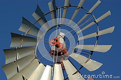 风车的接近的农场