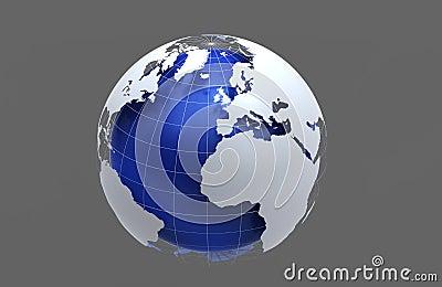 3d查出的背景蓝色地球灰色.