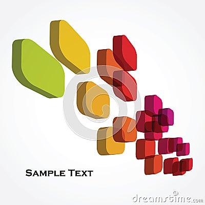 цветастые кубики 3d