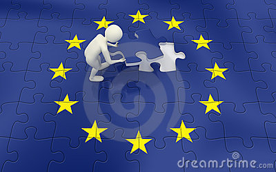 3d欧洲完成的标志人难题联盟