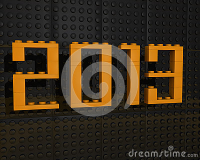 3d 2013 lego font orange