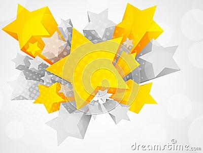 3d背景桔子星形.图片