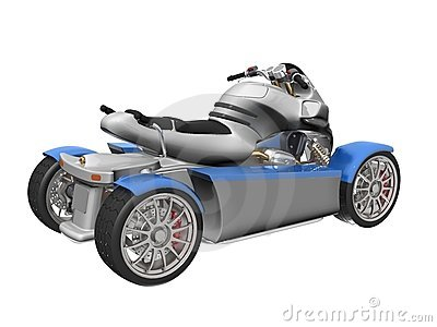3D 4-wheeled vehicle