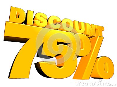 3D 75  Discount Sign