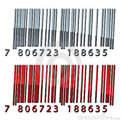 3d abstract barcodes