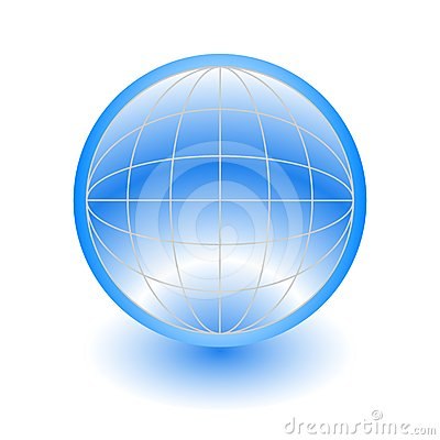 3d abstract blue globe