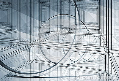 3d abstract blueprint illustration background