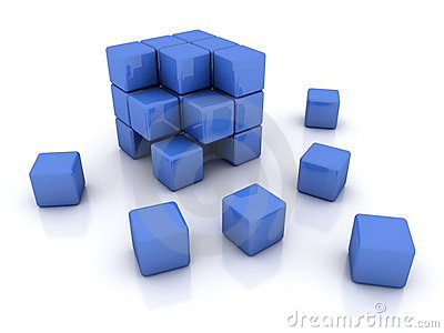 3d abstract cubes