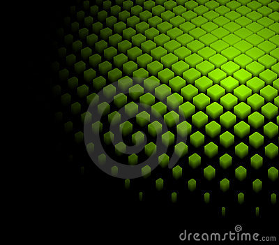 3d abstract dynamic green background Vector Illustration