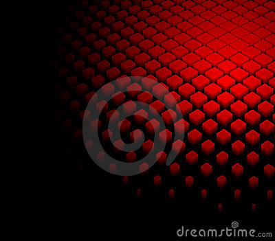 3d abstract dynamic red background Vector Illustration