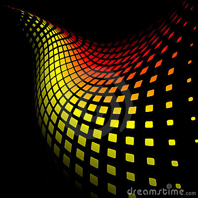 3d abstract dynamic yellow and red background
