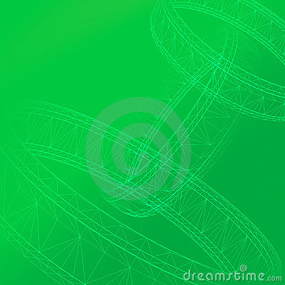3D Abstract in green