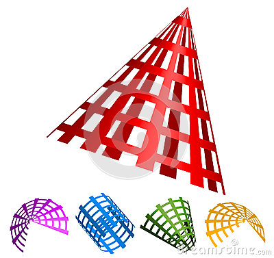 Free 3d Abstract Gridded Shapes. Stock Image - 48151421