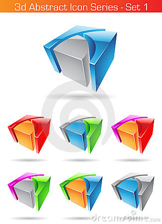 Free 3d Abstract Icon Series - Set 1 Stock Images - 10775584