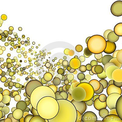 3d abstract multiple yellow bubble
