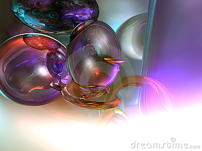 3d Abstract Render Spheres White Background