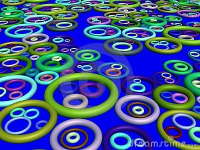 3D-abstract ting pattern(on blue)