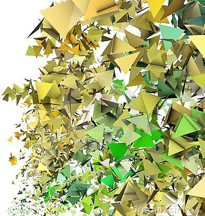 3d abstract yellow green backdrop