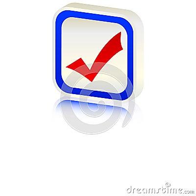 3d accept symbol