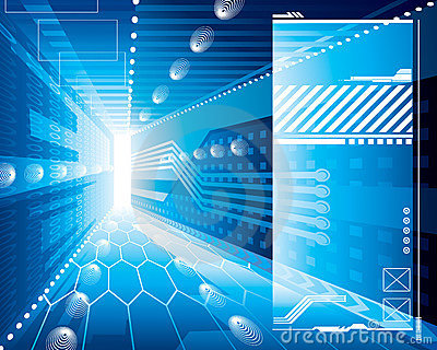3D Achtergrond van Technologie