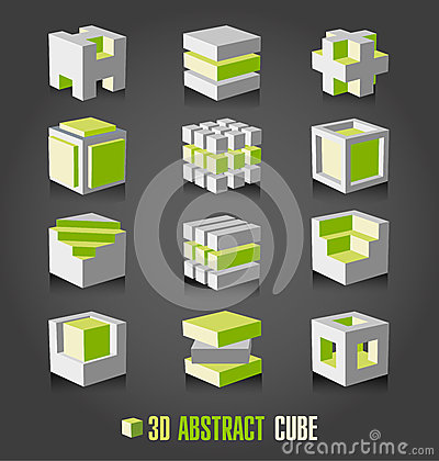 Free 3d Adstract Cube Stock Photos - 53064763