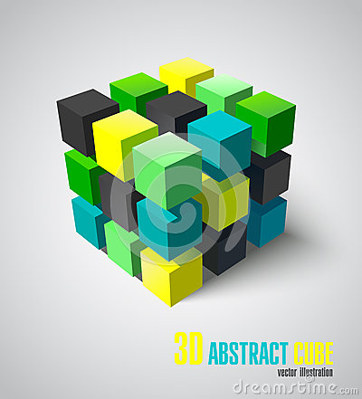 Free 3d Adstract Cube Stock Photo - 53091530